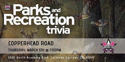 Parks & Rec Trivia at Copperhead Road Bar & Nightclub