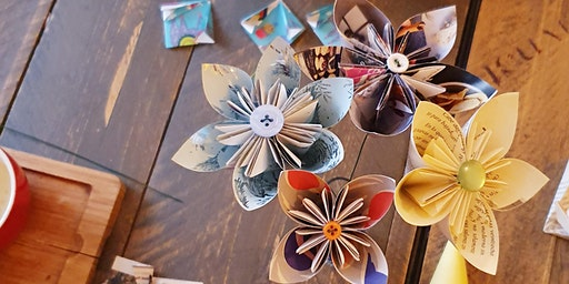 Making Kusudama Paper Flowers | Bearwood Trade School