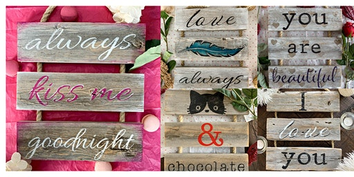 Valentines Day Craft Event - Romantic Rope Ladder Signs <3