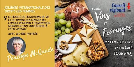 Soirée Vins et fromages - Journée internationale des droits des femmes billets