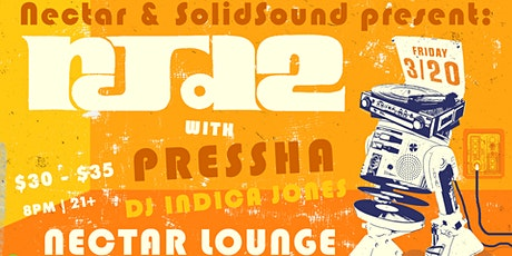 RJD2 with Pressha, DJ Indica Jones tickets