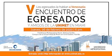 V Encuentro de Egresados y Amigos de la Universidad Metropolitana tickets