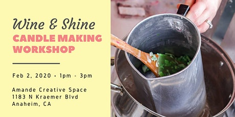 Scentful Escape - Wine & Shine Candle Making Workshop tickets