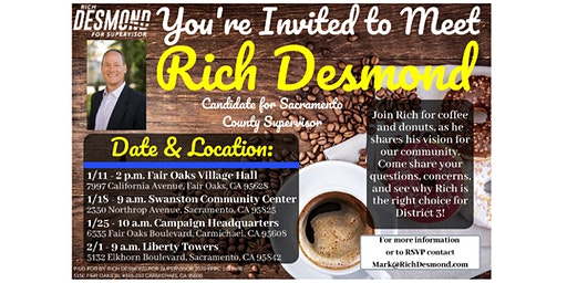 Community Coffee with Rich Desmond: North Highlands & Foothill Farms
