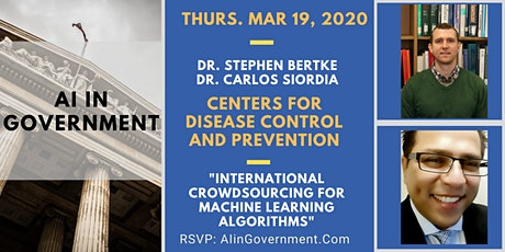 AI in Government - Carlos Siordia & Stephen Bertke, CDC tickets