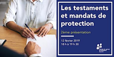 Séance d'information - Les testaments et mandats de protection - 2ème billets