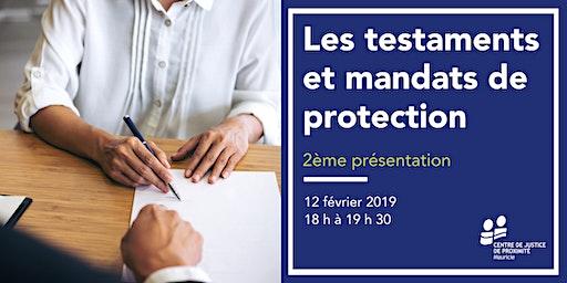 Séance d'information - Les testaments et mandats de protection - 2ème