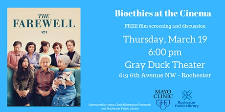 The Farewell - Bioethics at the Cinema tickets
