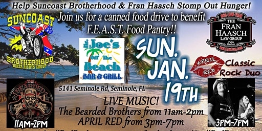 April Red LIVE Sunday Funday at Mr. Joe's off the Beach!