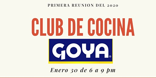 Club de Cocina de Goya Enero 2020