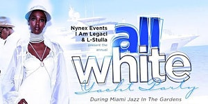 MIAMI NICE 2020 ANNUAL ALL WHITE YACHT PARTY DURING...