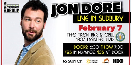 Jon Dore presented by Sudbury Performance Group tickets