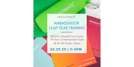 Ambassador Leap Year Training! tickets