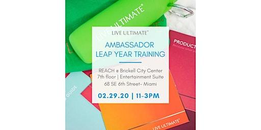 Ambassador Leap Year Training!