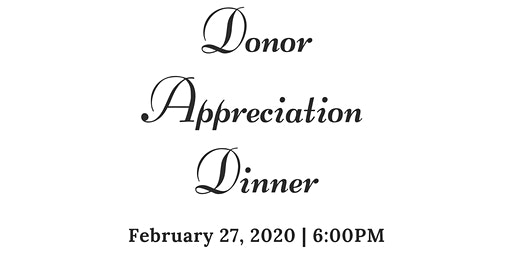 Donor Appreciation Dinner