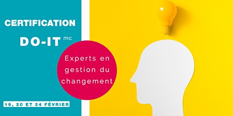 Certification DO-IT experts en gestion du changement (19, 20 et 24 février 2020) ingressos