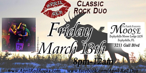 April Red is Back to ROCK The Zephyrhills Moose Lodge 2276!