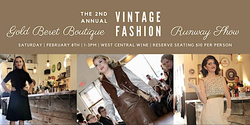 Gold Beret Boutique 2020 Vintage Fashion Show