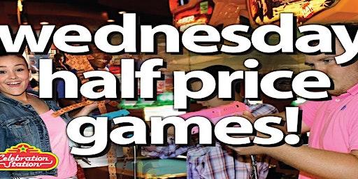 Half Price Games at Celebration Station