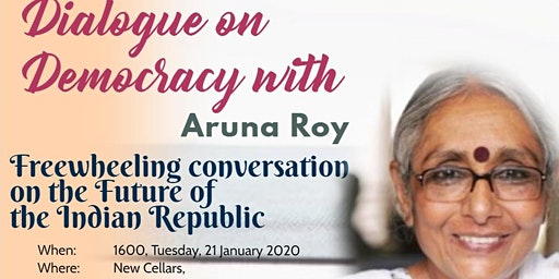 "CAMSAF ""Dialogues on Democracy"" with Aruna Roy"