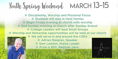FBC Augusta Youth Spring Weekend