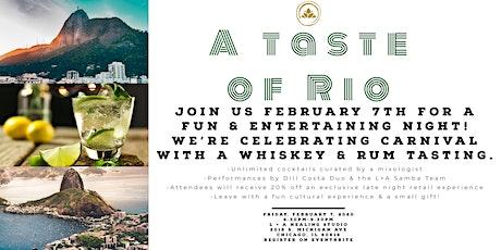A Taste of Rio tickets
