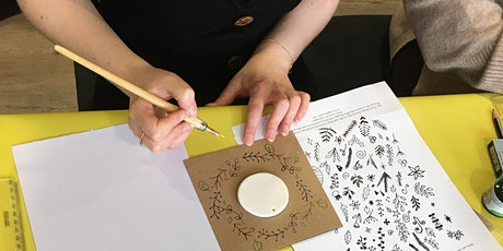Mother's Day Calligraphy craft tickets
