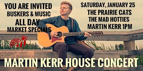 Downtown Edmonton Farmers Market House Concert & Martin Kerr tickets