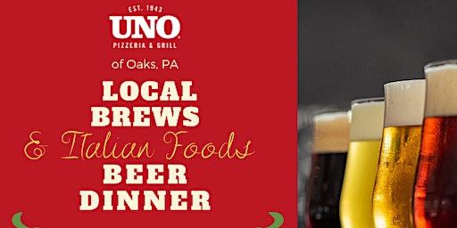Local Brews & Italian Foods Beer Dinner