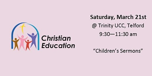Christian Ed  Workshop - Children's Sermons