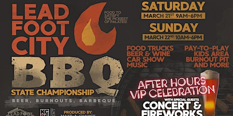 Lead Foot City BBQ State Championship - BEER, BURNOUTS & BARBECUE tickets