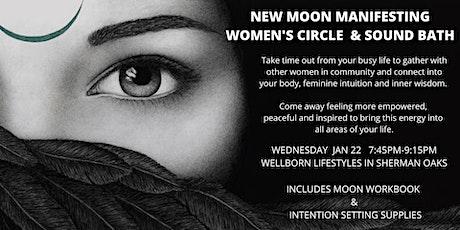 New Moon  Manifesting Women's  Circle  & Sound Bath tickets