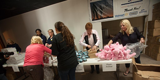 Myrtle Beach Volunteers Care Package Assembly