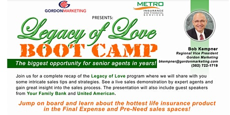 Legacy of Love Bootcamp tickets