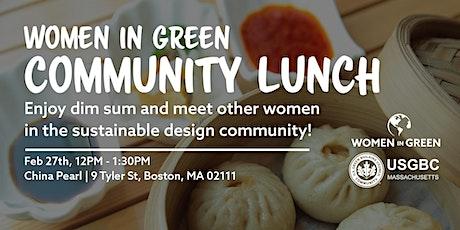 Women in Green: Community Lunch tickets