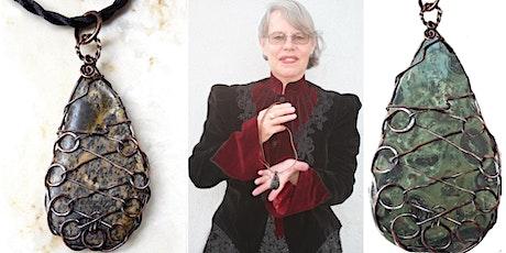 Kombaba Jasper Corset Laced Teardrop Wire Wrap  Jewelry Class tickets