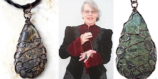 Kombaba Jasper Corset Laced Teardrop Wire Wrap  Jewelry Class