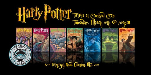 Harry Potter Books Trivia at Crooked Crab Brewing Company