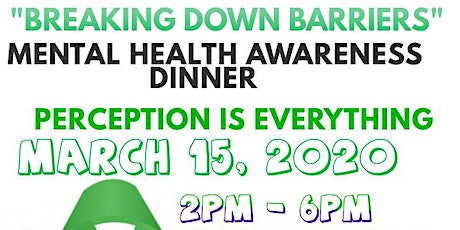Breaking Down Barriers Mental Health Awareness Dinner tickets