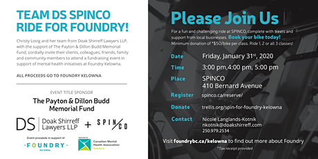 Doak Shirreff Lawyers LLP - Foundry Spin Event tickets