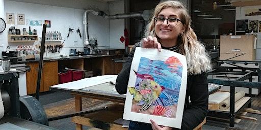 Watercolor Monoprint Workshop