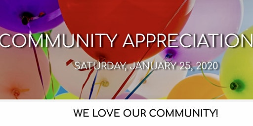 Community Appreciation Day: JAN 25, 2020