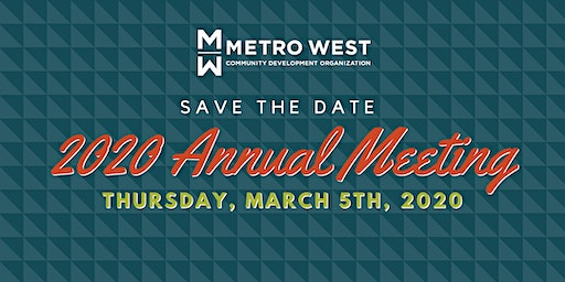 Metro West 2020 Annual  Meeting