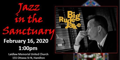 Jazz in the Sanctuary with Big Rude Jake duo tickets