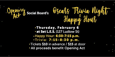 Oscars Trivia Night and Happy Hour! tickets