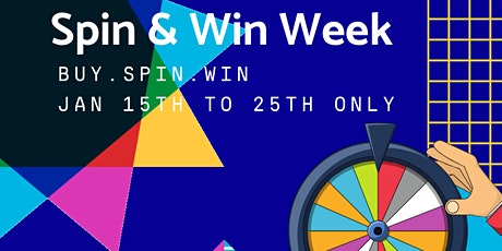 Spin & Win Week  Buy, Spin, and Win   No Payment for 90 days   0% Financing tickets