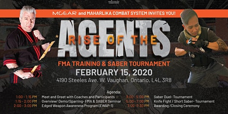 THE RISE OF THE AGENTS  - FMA TRAINING & SABER TOURNAMENT tickets