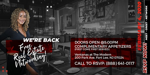 We are BACK at Ventanas in Fort Lee for FREE Real Estate Networking