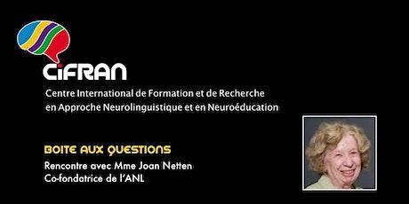 ANL - Rencontre avec Joan Netten, co-conceptrice de l'approche neurolinguistique d'enseignement des langues @ Québec, Canada billets