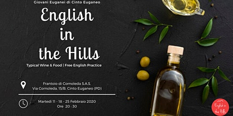 English in the Hills - Typical Wine & Food | Free English practice biglietti